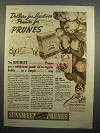 1937 Sunsweet Prunes Ads - Dollars for Laxatives