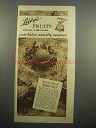 1937 Libby's Fruit Ad - Have You Served Blushing Pears?