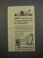 1938 Dole Pineapple Gems Ad - Most Luscious Part