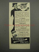 1941 Sunsweet Tenderized Prunes Ad - Keeps You Well