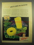 1944 Libby's Pineapple Juice, Sliced Pineapple Ad