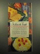 1947 Dole Pineapple Ad - It's All Done With Pineapple