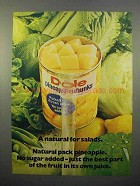 1972 Dole Pineapple Chunks Ad - A Natural for Salads