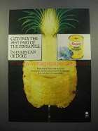 1982 Dole Sliced Pineapple Ad - The Best Part