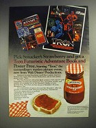 1982 Smucker's Strawberry Jam Ad - Walt Disney Tron