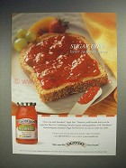 2004 Smuckers Sugar Free Strawberry Preserves Ad