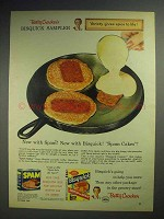 1957 Betty Crocker Bisquick Ad - Spam Cakes