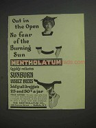 1913 Mentholatum Ointment Ad - Out in the Open