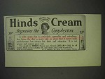 1913 Hinds Cream Ad - Improves the Complexion