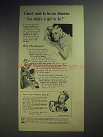 1944 Kotex Sanitary Napkins Ad - What's a Girl To Do?