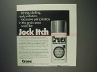 1975 Cruex Medicated Spray Powder Ad - Jock Itch