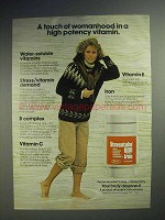 1977 Stresstabs Vitamin Ad - A Touch of Womanhood