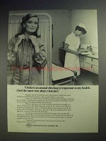 1980 Roche Pharmaceutical Ad - Annual Checkup Important