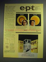 1980 e.p.t. Pregnancy Test Ad - Many Hospitals, Labs