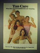 1980 Coppertone Tan Care Tanning Moisturizer Ad