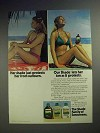 1983 Coppertone Sunscreen Ad - Tan As It Protects