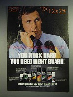 1984 Right Guard Deodorant Ad - You Work Hard