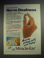 1987 Miracle-Ear Hearing Aid Ad - For Nerve Deafness