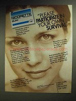 1997 Nicorette Nicotine Gum Ad - Your own Survival