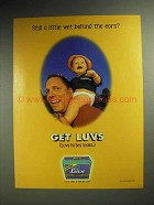 1998 Luvs Diapers Ad - Still Wet Behind the Ears?