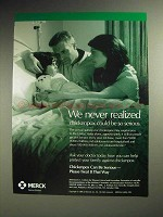 1998 Merck ChickenPox Ad - We Never Realized