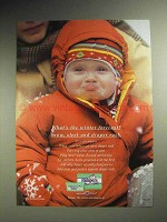 2000 Pampers Diapers & Wipes Ad - Winter Forecast