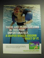 2001 Huggies Little Swimmers Diapers Ad - In This Pool