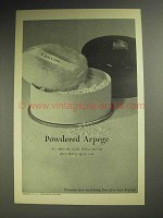 1967 Lanvin Powdered Arpege Ad - For After the Bath