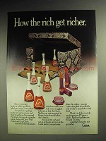1972 Cutex Nail Polish, Lip Colors Ad - Rich Get Richer