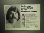 1973 Wella Balsam Shampoo Ad - Hair Like Yours Needs