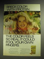 1974 Breck Color Hair Color Ad - Feels So Real