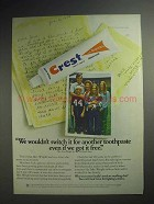 1975 Crest Toothpaste Ad - We Wouldn't Switch It