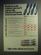 1982 Advanced Formula Crest Toothpaste Ad - Brush Up
