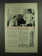 1927 Forhan's Toothpaste Ad - Pyorrhea's Victims