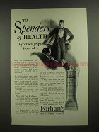 1927 Forhan's Toothpaste Ad - To Spenders of Health