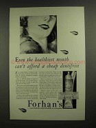 1930 Forhan's Toothpaste Ad - Healthiest Mouth