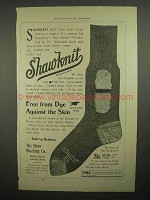 1898 Shaw Stocking Shawknit Half Hose Sock Ad
