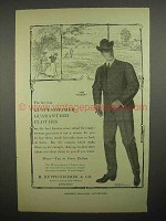 1903 B. Kuppenheimer & Co. Clothes Ad - The Saxon