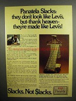 1973 Levi's Panatela Slacks Ad - Don't Look like Levi's