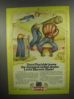 1976 Levi's Dura Plus Kids' Jeans Ad - Strongest Ever