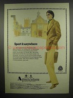 1978 Aquascutum Sports Jacket Ad - Sport it Anywhere