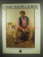 1983 Ralph Lauren Chaps Clothing Ad