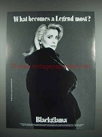1988 Blackglama Fur Coat Ad - Catherine Deneuve