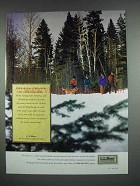 1990 L.L. Bean Fashion Ad - a Holiday Tradition