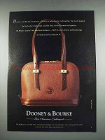 1997 Dooney & Bourke Zip-Zip Satchel Bag Ad