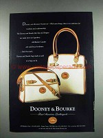 1997 Dooney & Bourke Zip-Top, Shopper Handbag Ad