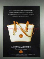 1997 Dooney & Bourke Stephanie Bag Ad - Tradition