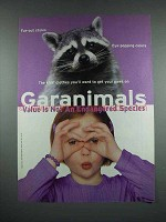 2000 Garanimals Fashion Ad - Racoon
