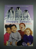 2000 Garanimals Sunggly Sweats Fashion Ad - Penguins