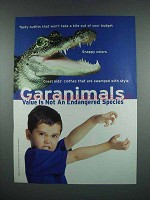 2001 Garanimals Fashion Ad - Alligator